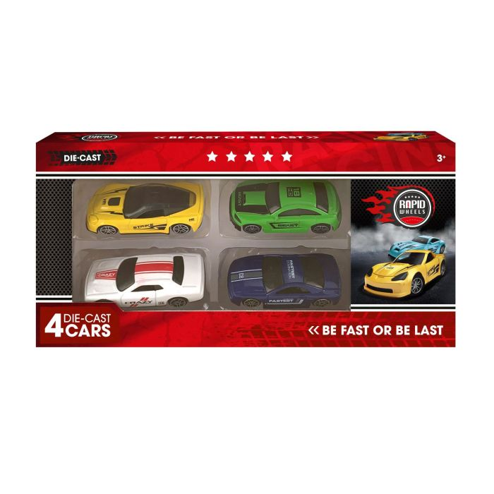 Auto Diecast Set 4 In Doos