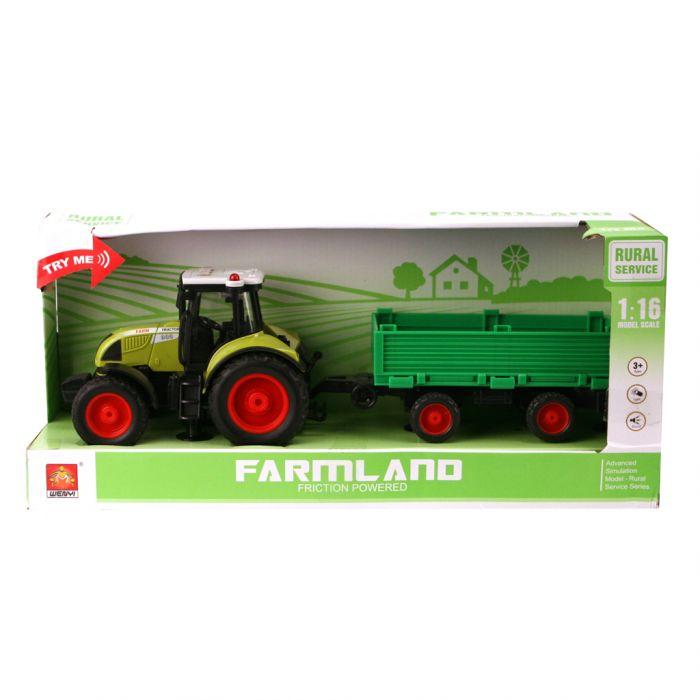 Tractor Met Aanhanger Groen B/O