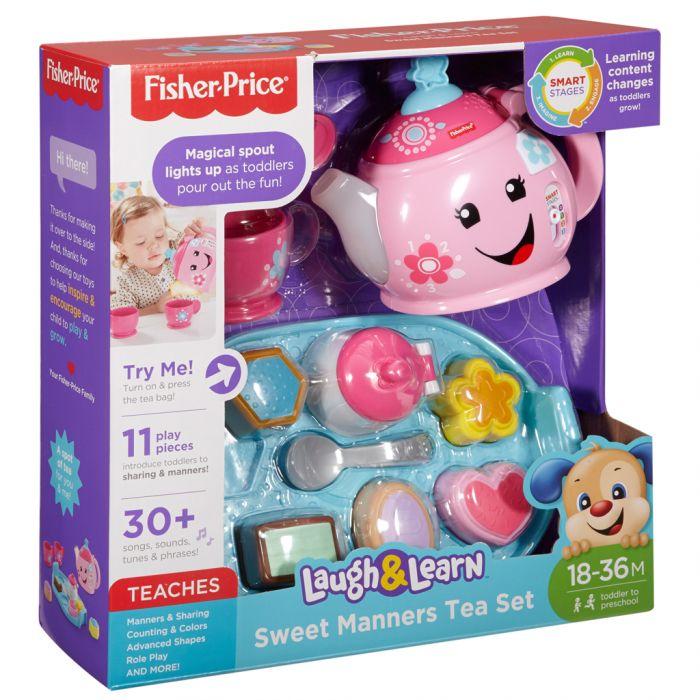 Fisher-Price Leerplezier Goede Manieren Theeservies – Speelgoedservies