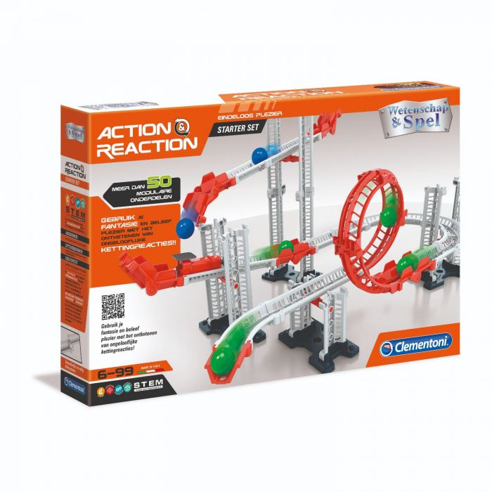 Action And Reaction Knikkerbaan Starter Set Clementoni