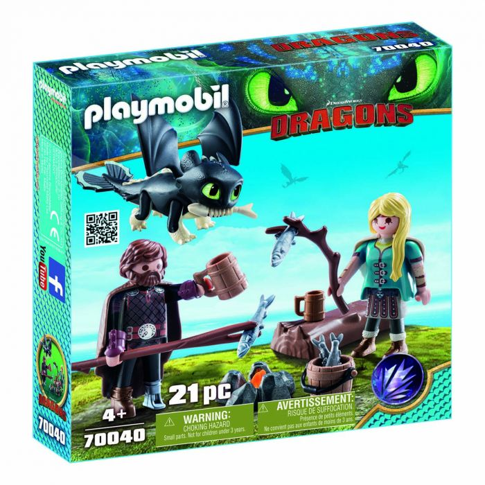 Playmobil 70040 Hikkie En Astrid Met Babydraak