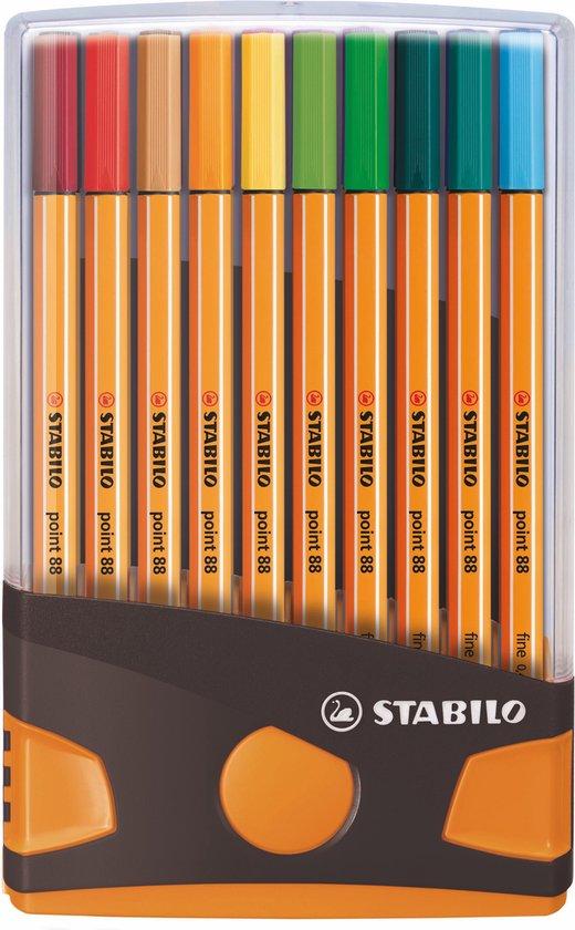 STABILO point 88 ColorParade Antraciet/Oranje Met 20 Kleuren