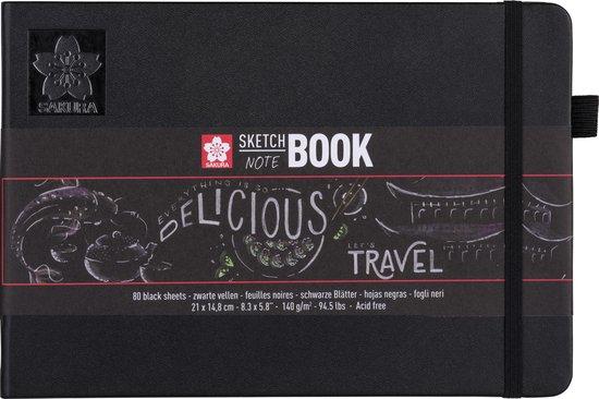 Sakura schets/notitieboek A5 zwart