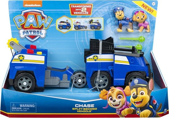 PAW Patrol Split Second 2 in 1 Chase Voertuig