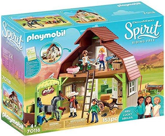 PLAYMOBIL Spirit Schuur met Lucky, Pru en Abigail 70118