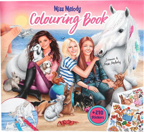 Depesche Miss Melody Colouring Book With Animals