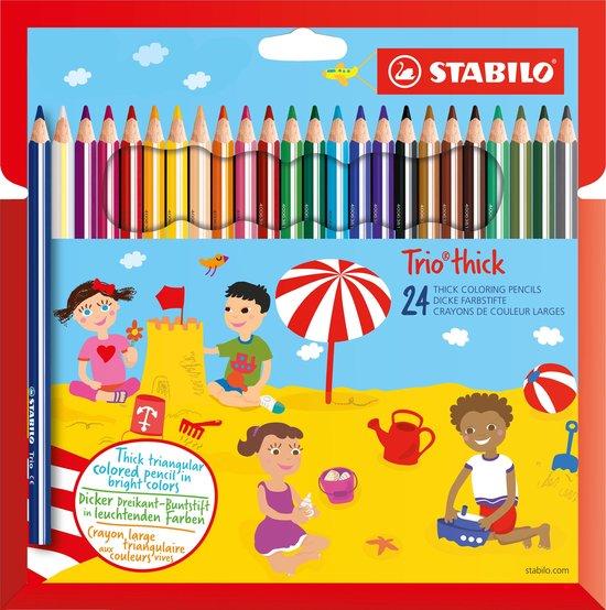 STABILO Trio Dik Kleurpotloden 24 kleuren