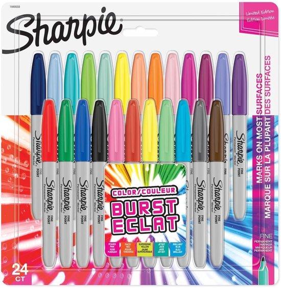 Sharpie Fine Point markeerstiften 24 stuks – Color Burst set