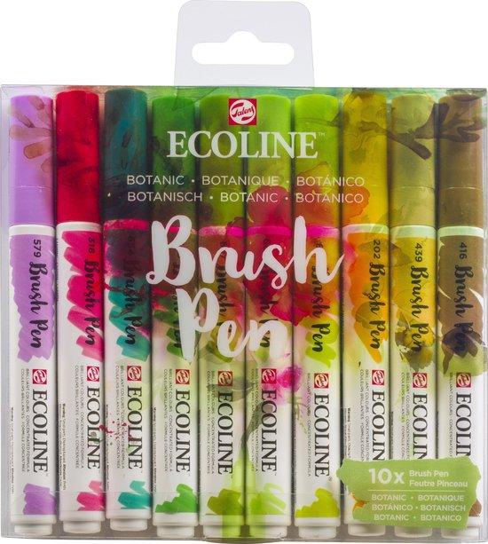 Talens Ecoline Brush Pen 10 stuks Botanisch Brushpen