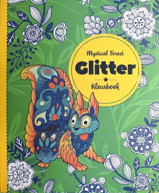 Glitterkleurboek Mystical Forest