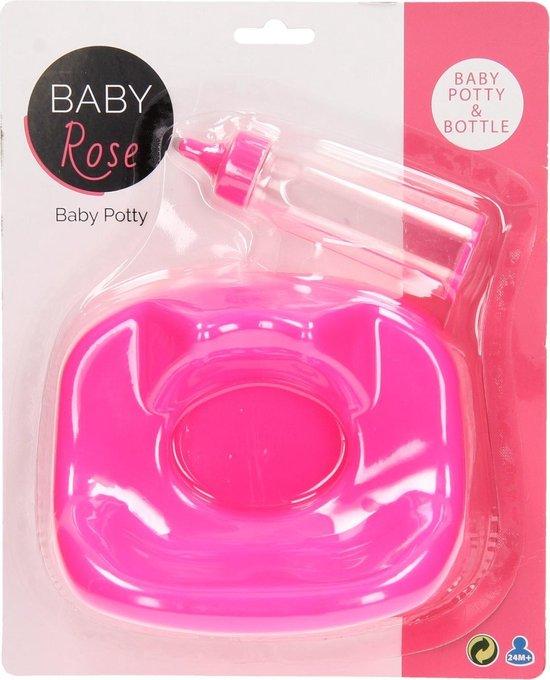 Baby Rose Babypotje Met Zuigfles Roze