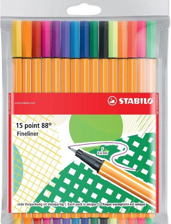 STABILO Point 88 Etui Just Like You Edition, 15st.