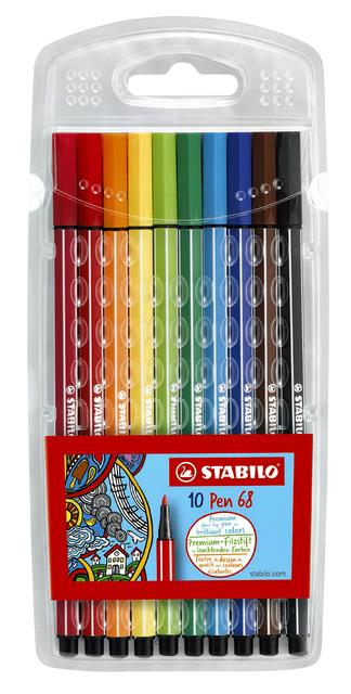 Viltstift Stabilo Pen 68 Etui À 10 Kleuren