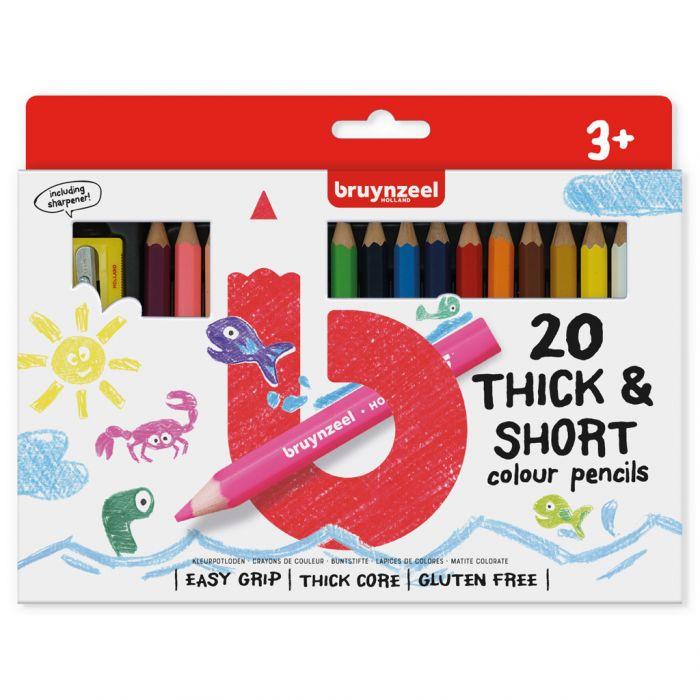 Kleurpotloden Bruynzeel Kortjakjes 20 stuks