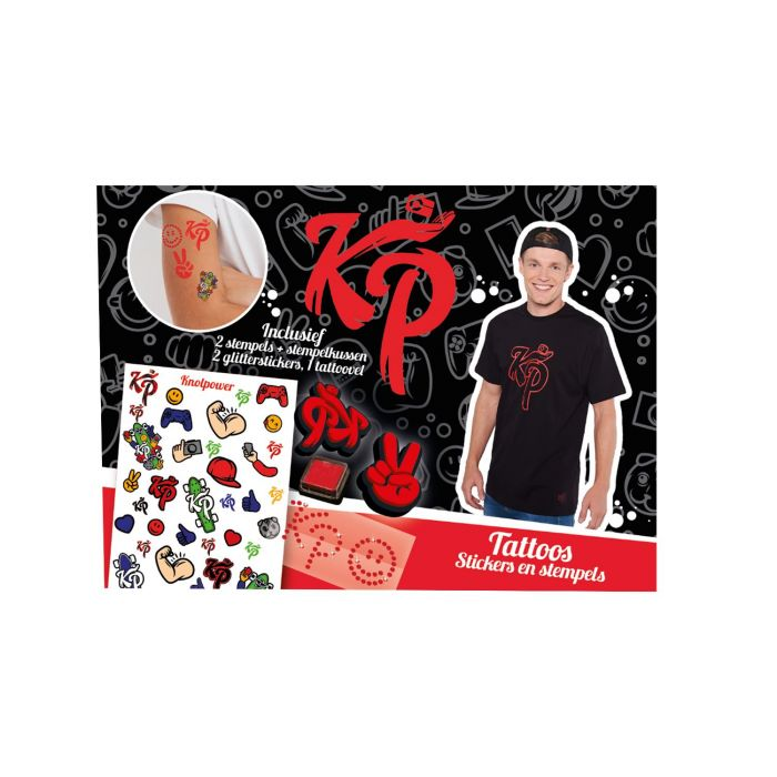 Knol Power Tattoobox Stickers Met 2 Stempels