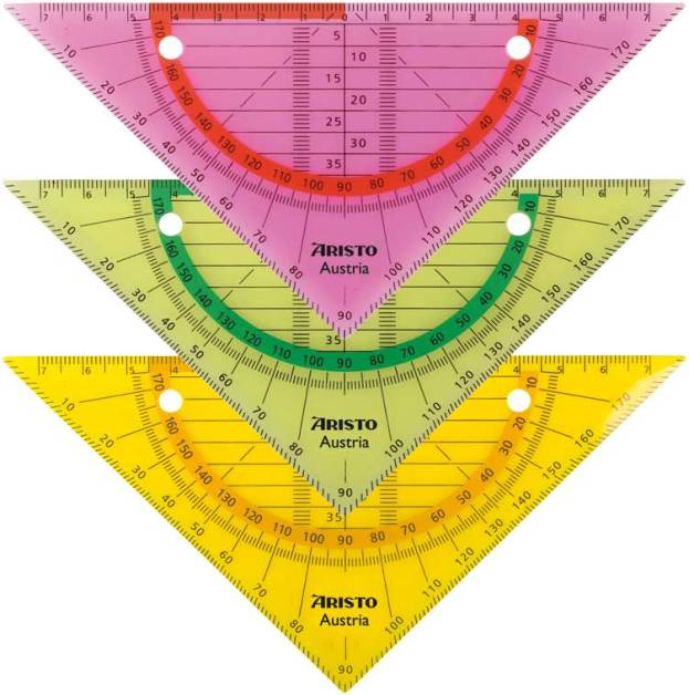 Geodriehoek Aristo GEOflex neon kleuren