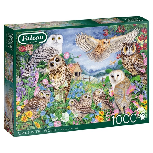 Falcon Owls in the Wood 1000 stukjes