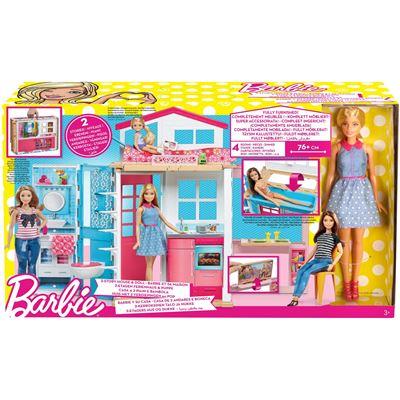 Barbie Speelhuis met 2 verdiepingen en 1 pop inbegrepen