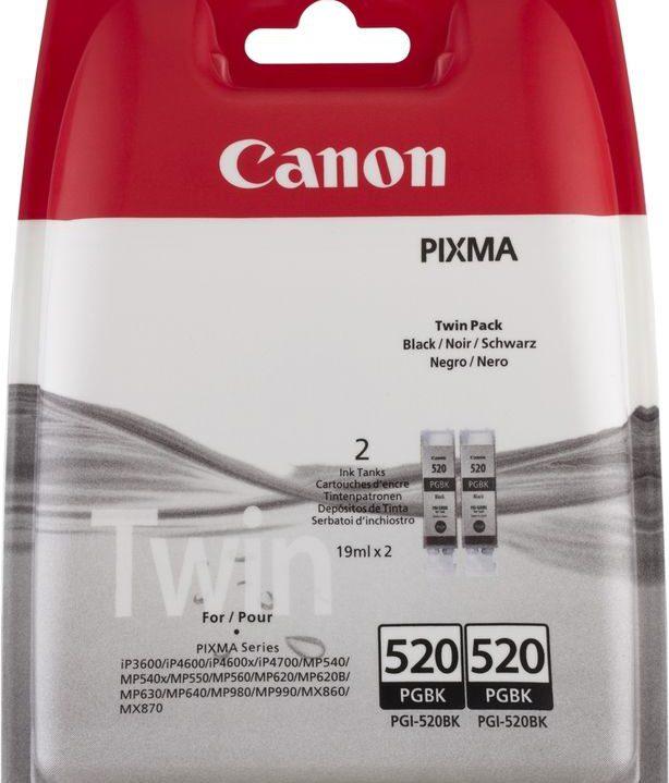 Canon Pixma 520 Zwart Twin Pack