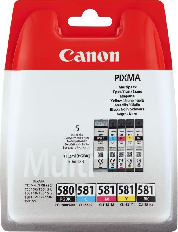 Canon Pixma 580 Zwart + 581 Multipack