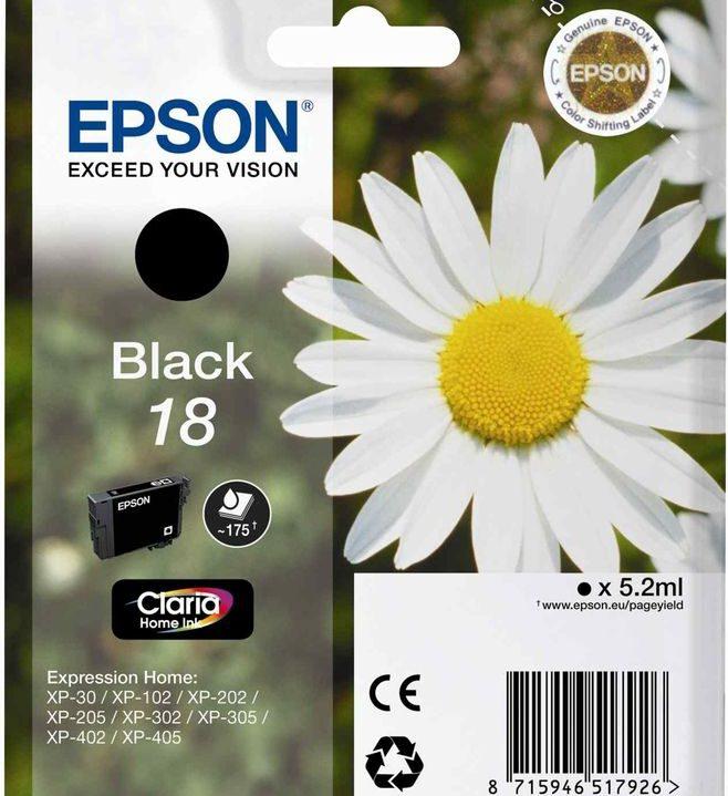 Epson 18 Zwart