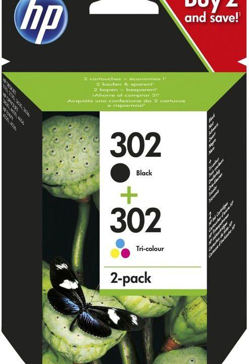 HP 302 Zwart + 302 Kleur