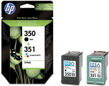 HP 350 Zwart + 351 Kleur
