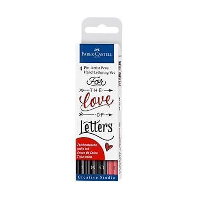 Faber-Castell Pitt Artist Pens tekenstiften handlettering Love (4-delig)