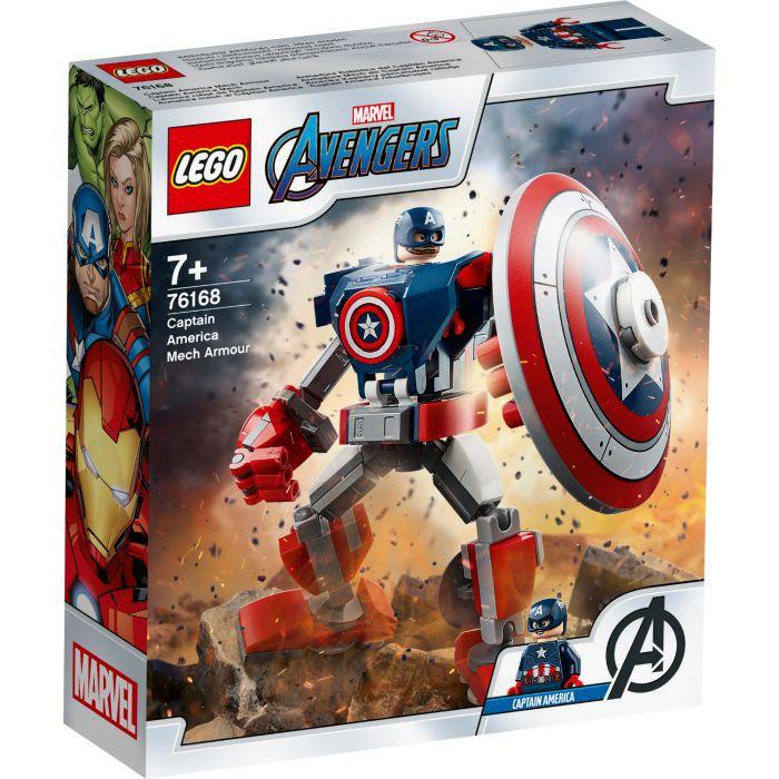 LEGO Marvel Avengers 76168 Classic Captain America Captain America Mechapantser