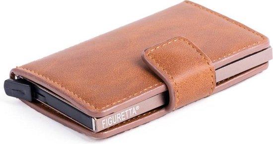 Figuretta RFID Creditcardhouder – 6 pasjes – Cognac
