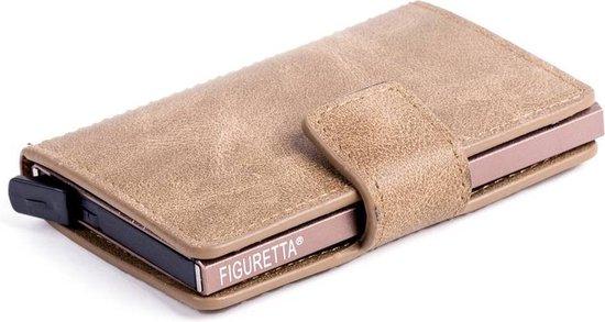 Figuretta RFID Creditcardhouder – Pu-Leer – Zandgroen