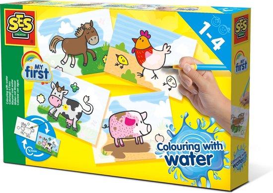 Kleuren met water Boerderij dieren