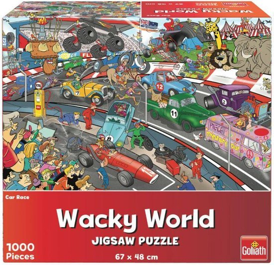 Goliath Wacky World Puzzel Car Race 1000 Stukjes