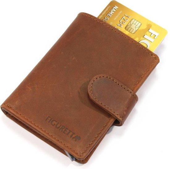 Figuretta RFID Creditcardhouder – 6 pasjes – Hunter Bruin