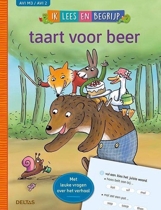 Ik lees en begrijp taart voor beer