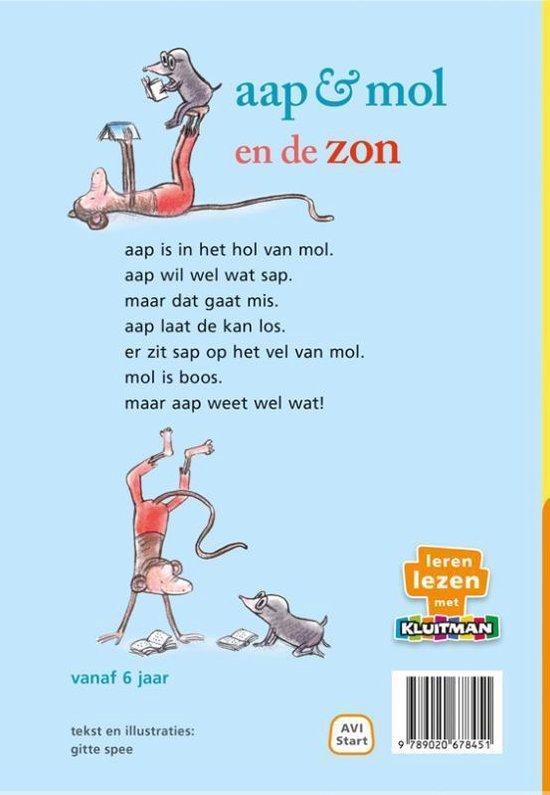 Leren lezen met Kluitman aap & mol en de zon
