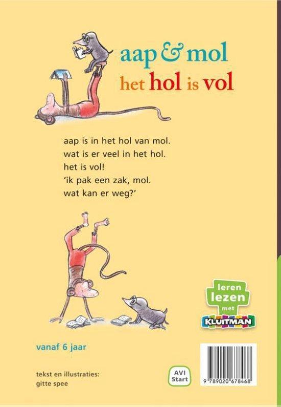 Leren lezen met Kluitman aap & mol het hol is vol