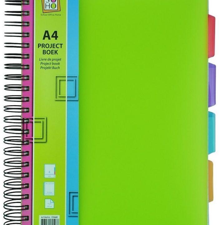 Projectboek A5 3tabs