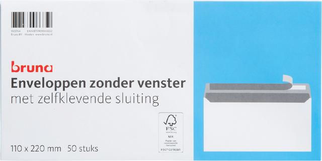 Envelop Bruna bank EA5/6 110x220mm zelfklevend wit 50stuks