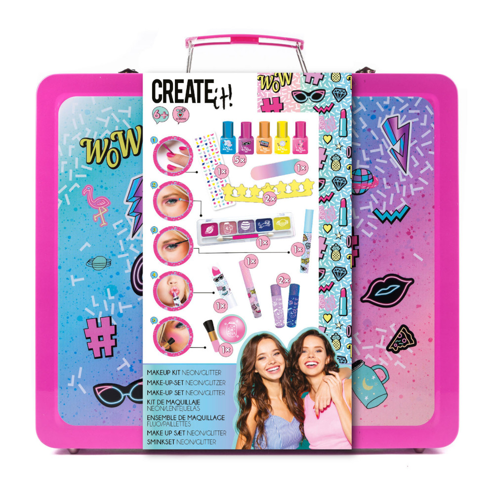 Create It! Make-up Set in Luxe Koffer – Neon & Glitter