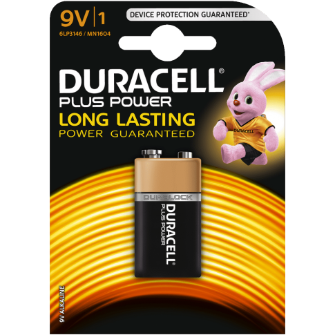 DURACELL PLUS POWER ALKALINE 9V
