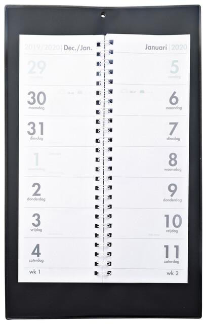 Omslagkalender 2 week 2021 zwart