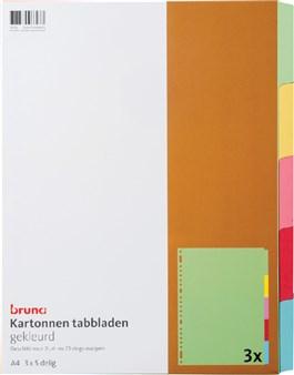 gekleurd karton bruna Tabbladen