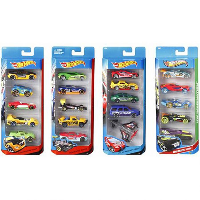 Hot Wheels Auto Diecast 5-Pack Assorti