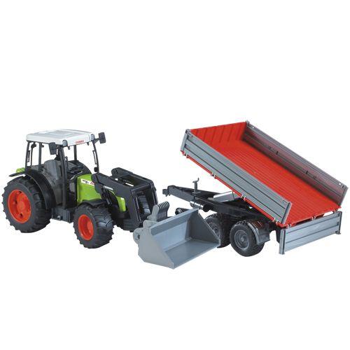 Bruder Tractor Claas Nectis 267 F Met Aanhanger
