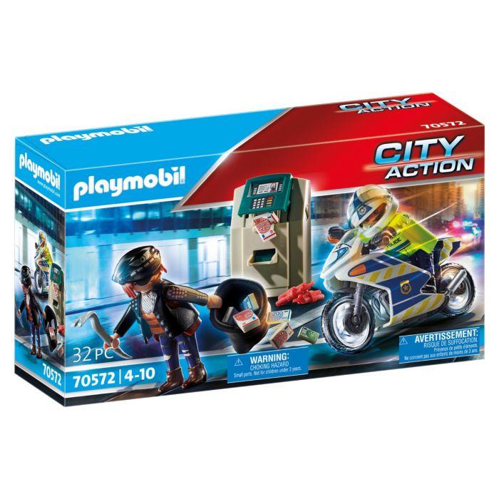 Playmobil 70572 Politiemotor: Achtervolging Van De Geldrover