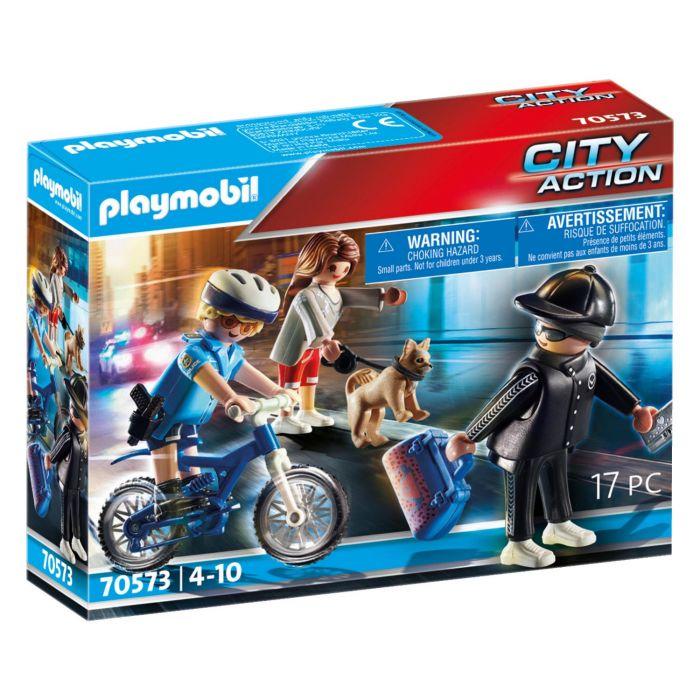 Playmobil 70573 Politiefiets: Achtervolging Van De Zakkenroller
