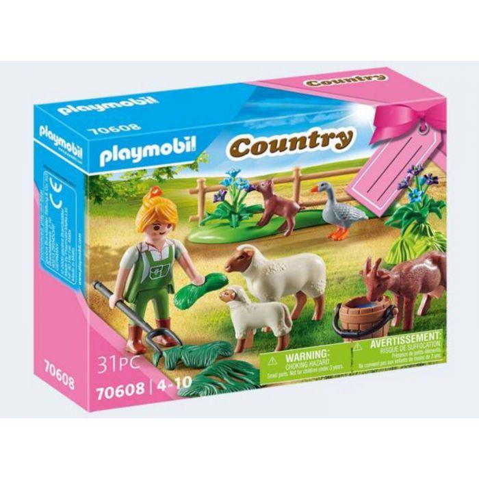 Playmobil 70608 Geschenkset Boerin Met Weidedieren