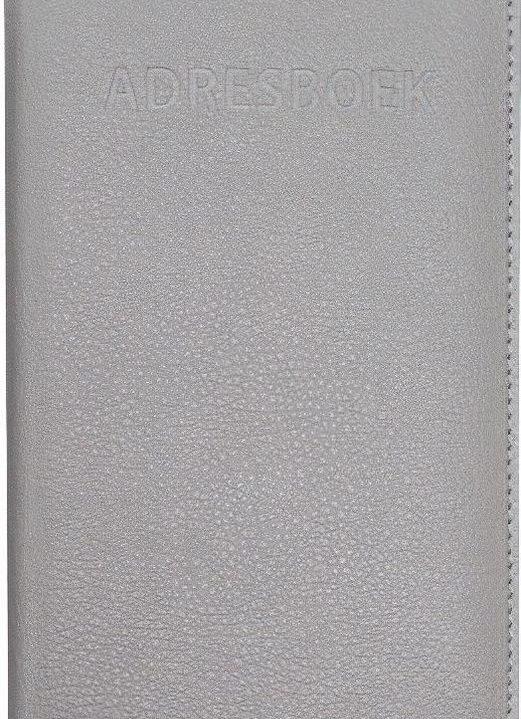 Verhaak Adresboek 11 X 17 Cm Kunstleer Grijs