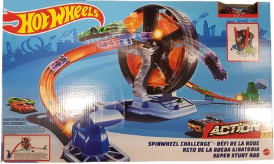 Hot Wheels Action Spinwheel Challenge Speelset + Auto